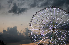 Ferris wheel against the dark sky Royalty Free Stock Photos