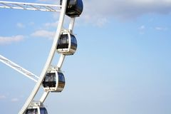 Ferris wheel against the sky stock image