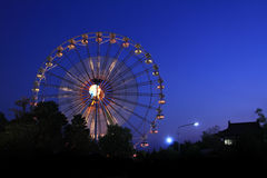 Ferris Wheel alla notte Immagine Stock Libera da Diritti
