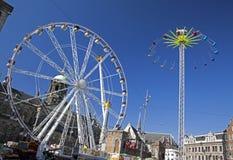Ferris wheel in Amsterdam Stock Photography