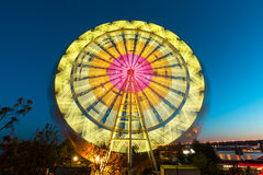 The Ferris wheel, amusement, on the background of blue sky Royalty Free Stock Photography