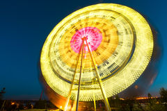 The Ferris wheel, amusement, on the background of blue sky Royalty Free Stock Photo