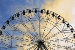 Ferris wheel in the amusement Park royalty free stock photography