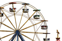 Ferris wheel in amusement park Stock Images