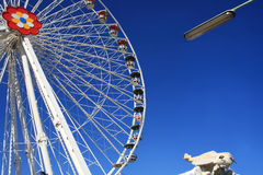 Ferris wheel in amusement park Stock Image