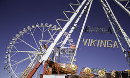 Ferris wheel in amusement park Royalty Free Stock Images