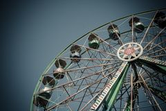 Ferris Wheel in Amusement Park on Royalty Free Stock Photography