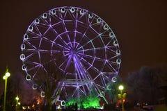 Ferris wheel. At an amusement park Royalty Free Stock Photos