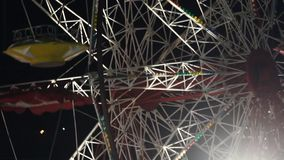 Ferris wheel. In amusement park stock video