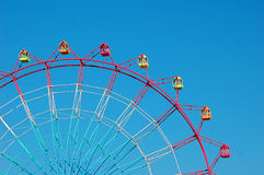 Ferris wheel. Amusement park big wheel giant wheel   High Roller   landmark theme park Stock Photos
