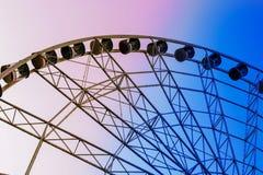 Ferris wheel in the amusement Park stock photo