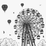 Ferris wheel at an amusement park. Illustration Stock Photos