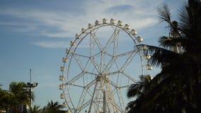 Ferris wheel at an amusement park. stock footage