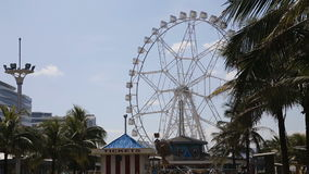 Ferris wheel at an amusement park stock video footage