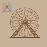 Ferris wheel. Amusement park object Royalty Free Stock Image