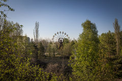 Ferris wheel in amusement park in Pripyat Stock Photography