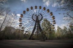 Ferris wheel in amusement park in Pripyat Stock Photos
