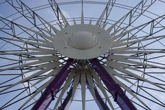 Ferris wheel in an amusement park. Zurich, Switzerland. 21 january 2007 Royalty Free Stock Image
