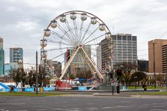 A ferris wheel amusement in Victoria Square Adelaide South Austr Stock Photography