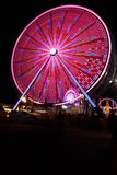 Ferris Wheel And Carnival Fair At Night Royalty Free Stock Images