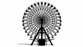 Ferris Wheel animation Royalty Free Stock Images