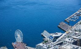 Ferris Wheel Aquarium and Yacht Basin Stock Image