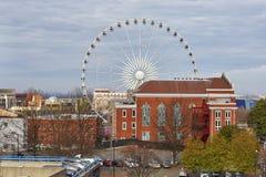 Ferris Wheel in Atlanta, Georgië stock foto