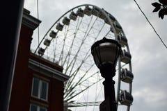 Ferris Wheel in Atlanta, Georgia. A ferris wheel in the background of downtown Atlanta, Georgia, USA stock photo