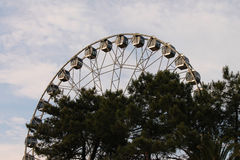 Ferris wheel. Attraction Ferris wheel in the amusement park in the city of Sochi Royalty Free Stock Photos