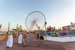 Ferris Wheel au village global à Dubaï Image stock