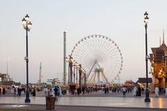 Ferris Wheel au village global à Dubaï Image libre de droits