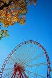 Ferris wheel and autumn foliage Royalty Free Stock Photography