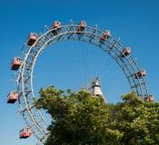 Ferris Wheel av vienna prater parkerar Arkivbild