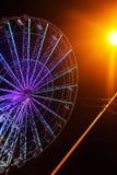 Ferris wheel on a background of black sky stock photos