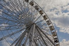 Ferris wheel on a background of blue sky royalty free stock image