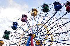 Ferris wheel on the background of blue sky Royalty Free Stock Photos