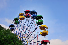 Ferris wheel on the background of blue sky Royalty Free Stock Photography