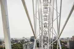Ferris wheel on the background city and sky Royalty Free Stock Photos