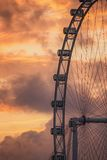 Ferris Wheel on the background of evening sky Royalty Free Stock Photos
