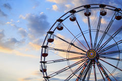 Ferris wheel. On the background of sky Stock Image