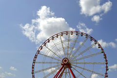 Ferris wheel. On the background of sky with clouds Stock Photography