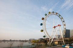 Ferris wheel of Baijia Lake in Nanjing Royalty Free Stock Photography