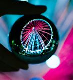 Ferris wheel ball stock image
