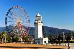Ferris wheel of Batumi city Stock Images