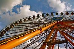 Ferris wheel. At folk fair Royalty Free Stock Photography