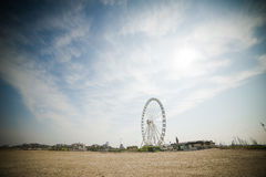 Ferris Wheel on a beach Royalty Free Stock Images