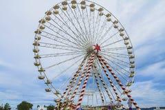 Ferris wheel. The big wheel in the harbor Stock Image