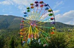 Ferris Wheel. Big Ferris Wheel at the zoo in the nature of Yalta. Crimea, Ukraine Stock Images