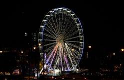 Ferris Wheel in Birmingham, Jahrtausend-Punkt, Weihnachten lizenzfreie stockfotos