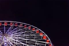 Ferris Wheel on Black Night. Edinburgh`s Christmas, Princes Stre royalty free stock photo